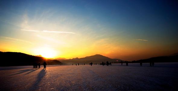 Eislaufen am Woerthersee