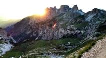Sonnenuntergang in den Dolomiten