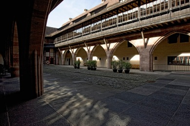 Nuernberg - Innenhof Heiliggeist Spital