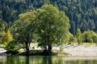 am Jasna See in Kranjska Gora in Slowenien